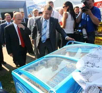 Путин купил мороженое дважды у одной продавщицы